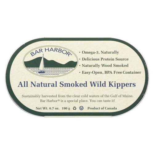 Bar Harbor - Smoked Wild Kippers - Case Of 12 - 6.7 Oz.