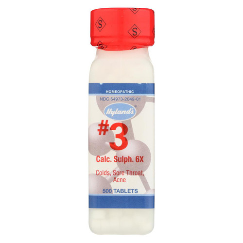 Hyland's No.3 Calcium Sulphate 6x - 500 Tablets
