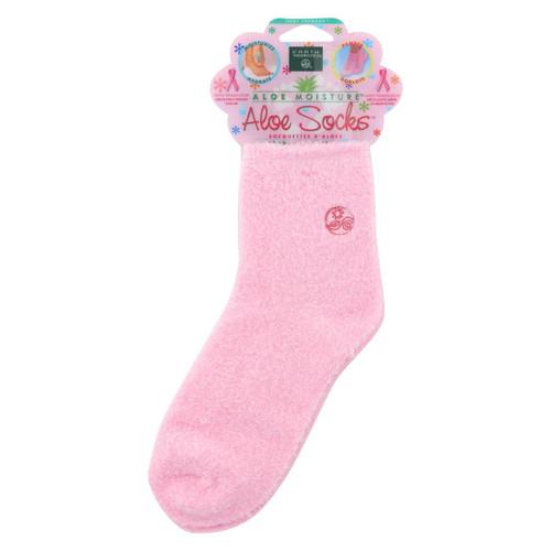 Earth Therapeutics Aloe Socks Pink - 1 Pair