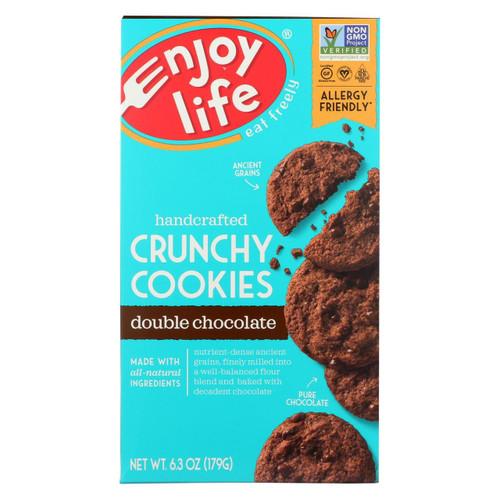 Enjoy Life - Cookie - Crunchy - Double Chocolate - Gluten Free - 6.3 Oz - Case Of 6