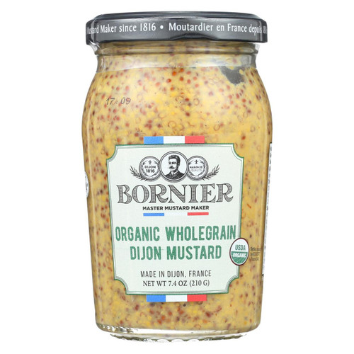 Bornier - Mustard - Organic Whole Grain - Case Of 6 - 7.4 Oz.