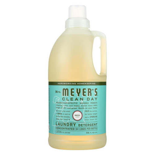 Mrs. Meyer's Clean Day - 2x Laundry Detergent - Basil - 64 Oz