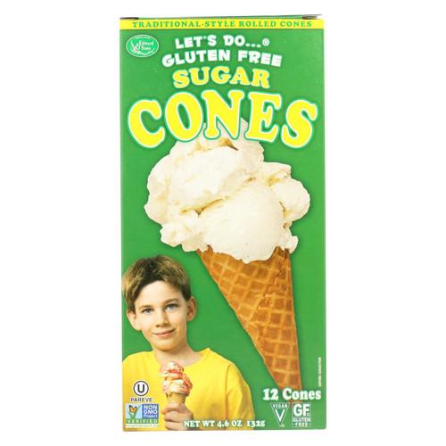Let's Do Ice Cream Cones - Sugar - Case Of 12 - 4.6 Oz.