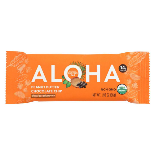 Aloha (bars)  Peanut Butter Chocolate Chip - Case Of 12 - 1.9 Oz