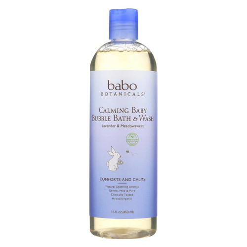Babo Botanicals - Shampoo Bubblebath And Wash - Calming - Lavender - 15 Oz