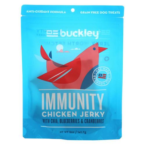 Buckley Jerky Treats - Chicken - Case Of 6 - 5 Oz.