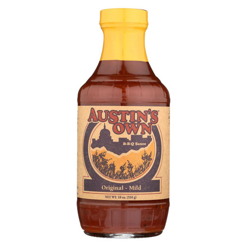 Austins Own Bbq Sauce - Original - Case Of 6 - 18 Oz