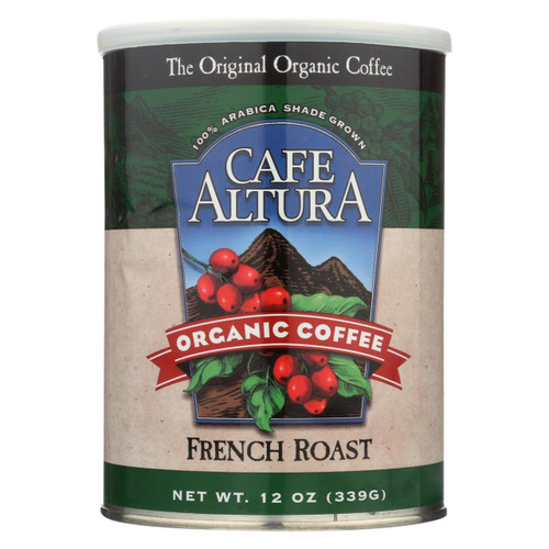 Cafe Altura Organic Ground Coffee - French Roast - Case Of 6 - 12 Oz.