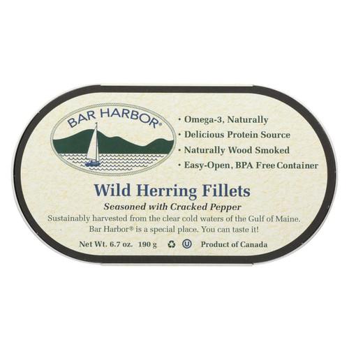 Bar Harbor - Wild Herring Fillets - Cracked Pepper - Case Of 12 - 6.7 Oz.