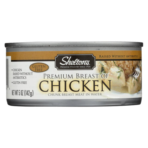 Shelton's Poultry Premium Breast Of Chicken - Case Of 12 - 5 Oz.