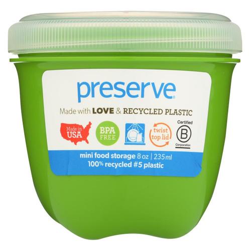 Preserve Mini Food Storage Container - Apple Green - Case Of 12 - 8 Oz