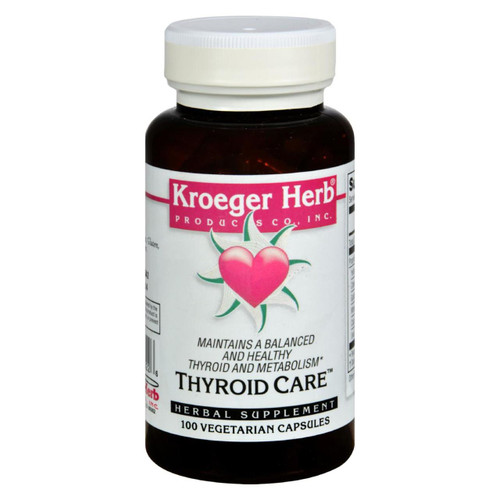 Kroeger Herb Thyroid Care - 100 Capsules