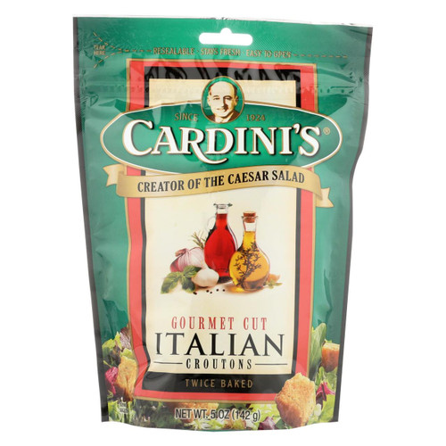 Cardini's Croutons - Italian - Case Of 12 - 5 Oz