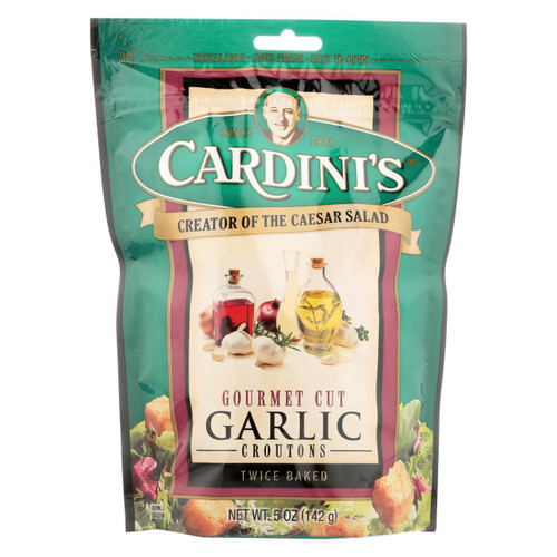 Cardini's Croutons - Garlic - Case Of 12 - 5 Oz