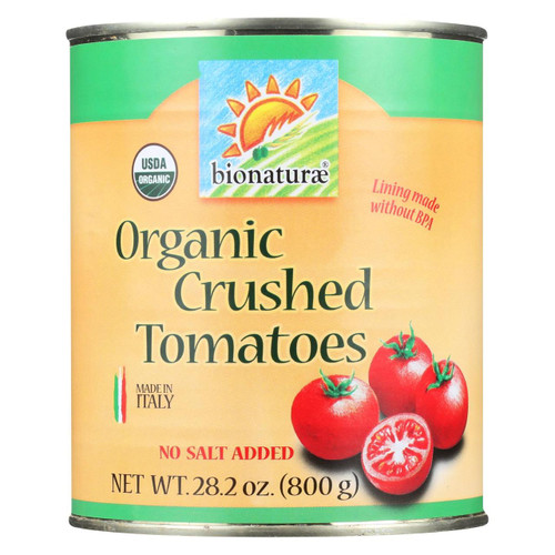 Bionaturae Tomatoes - Organic - Crushed - 28.2 Oz - Case Of 12
