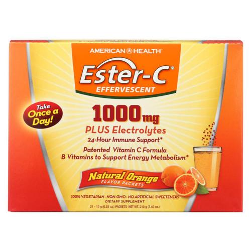 American Health - Ester-c 1000mg Orange - 21 Packets