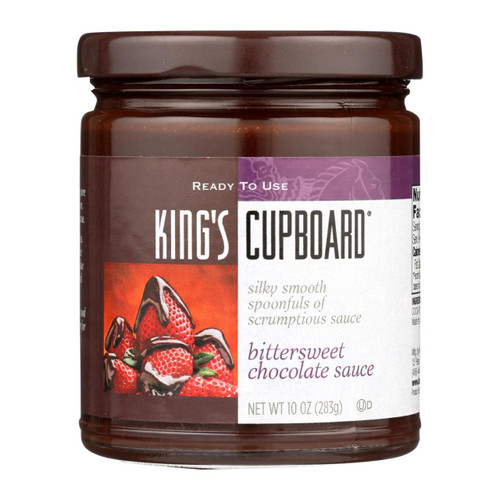 The King's Cupboard Dessert Sauces - Bittersweet Chocolate - Case Of 12 - 10.4 Oz.