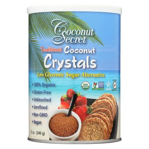 Coconut Secret - Raw Crystals - Coconut - Case Of 12 - 12 Oz.