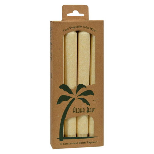 Aloha Bay - Palm Tapers - Cream - 4 Candles