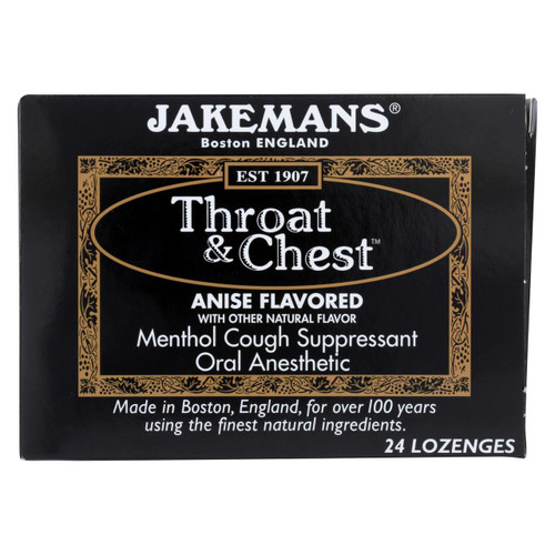 Jakemans Throat And Chest Lozenges - Anise - Case Of 24 - 24 Pack - 0418533