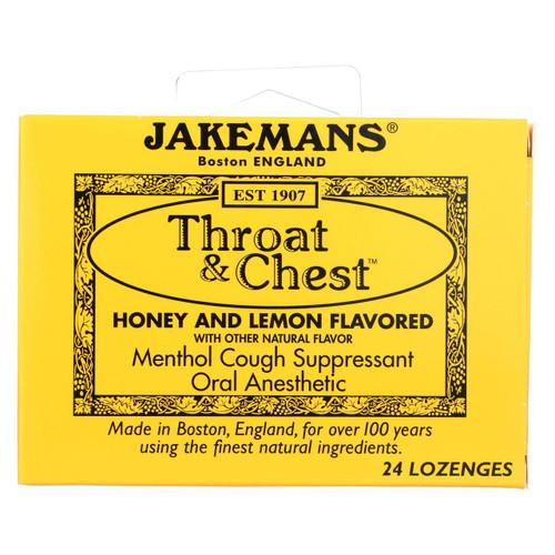 Jakemans Throat And Chest Lozenges - Honey And Lemon - Case Of 24 - 24 Pack - 0418608