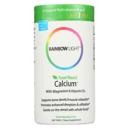 Rainbow Light Food-based Calcium - 180 Tablets