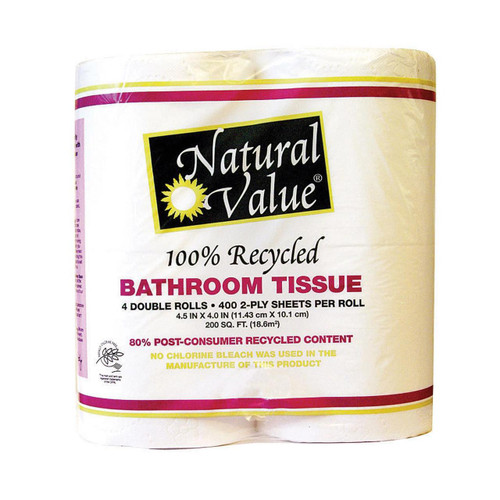 Natural Value Recycled Bathroom Tissue - Case Of 12