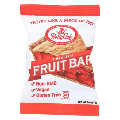Betty Lou's Fruit Bar - Strawberry - Gluten Free - Case Of 12 - 2 Oz