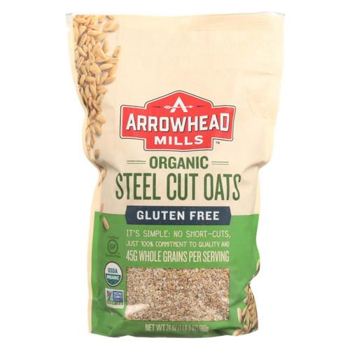 Arrowhead Mills - Oats - Steel Cut - Gluten Free - Case Of 6 - 24 Oz
