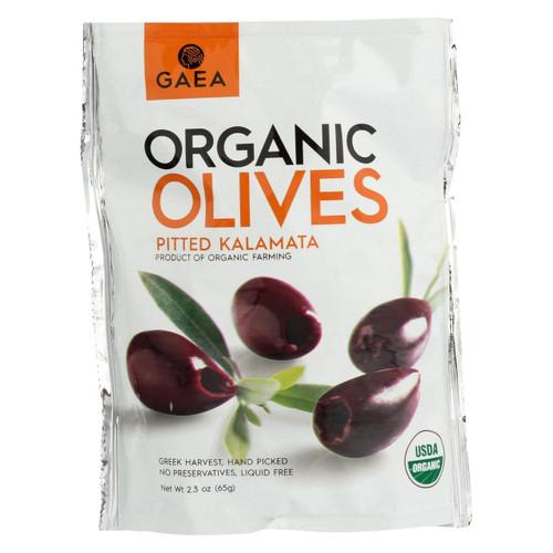 Gaea Organic Olive Snack - Kalamata - Case Of 8 - 2.3 Oz