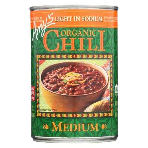 Amy's - Organic Low Sodium Medium Chili - Case Of 12 - 14.7 Oz