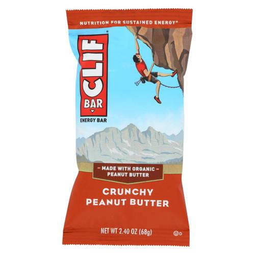 Clif Bar - Organic Crunch Peanut Butter - Case Of 12 - 2.4 Oz