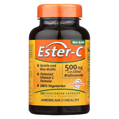 American Health - Ester-c With Citrus Bioflavonoids - 500 Mg - 120 Vegetarian Capsules