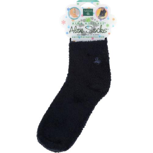 Earth Therapeutics Moisturizing Aloe Socks Black - 1 Pair