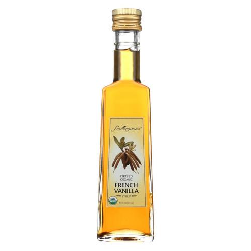 Flavorganics Syrup - Organic - French Vanilla - 8.5 Oz - Case Of 6
