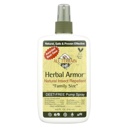 All Terrain - Herbal Armor Natural Insect Repellent Family Size - 8 Fl Oz