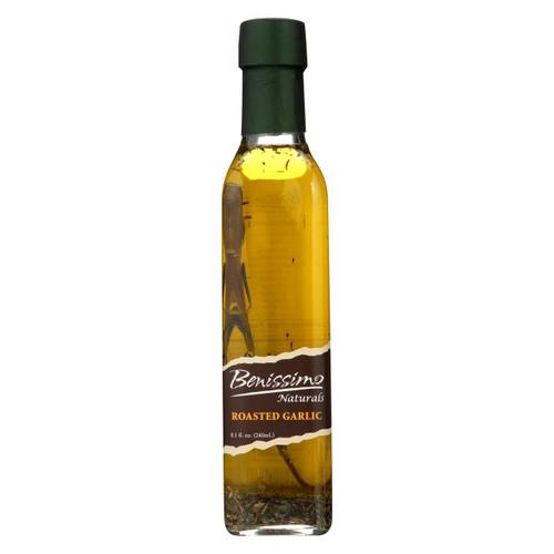 Benissimo Oil - Roasted Garlic - Case Of 6 - 8.1 Fl Oz.