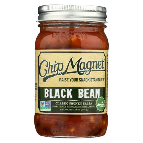 Chip Magnet Salsa Sauce Appeal - Salsa - Black Bean - Case Of 6 - 16 Oz.
