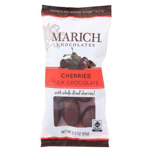 Marich Chocolate Cherries - Case Of 12 - 2.3 Oz