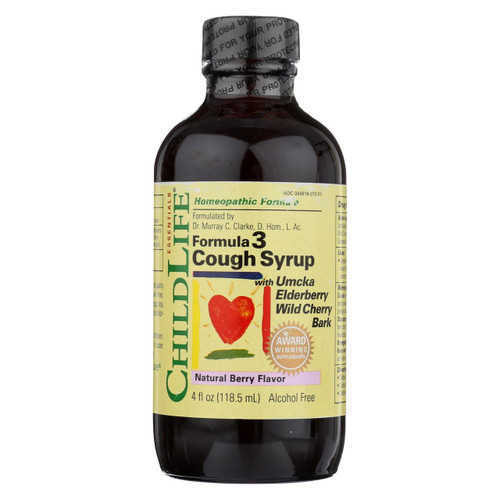 Childlife Formula 3 Cough Syrup Natural Berry - 4 Fl Oz