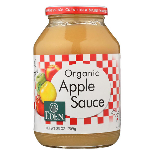 Eden Foods 100% Organic Applesauce - Case Of 12 - 25 Oz