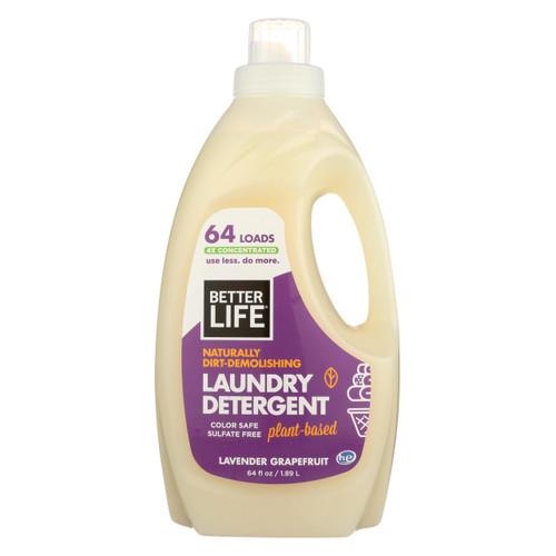 Better Life Laundry Detergent - Lavender Grapefruit - Case Of 4 - 64 Fl Oz