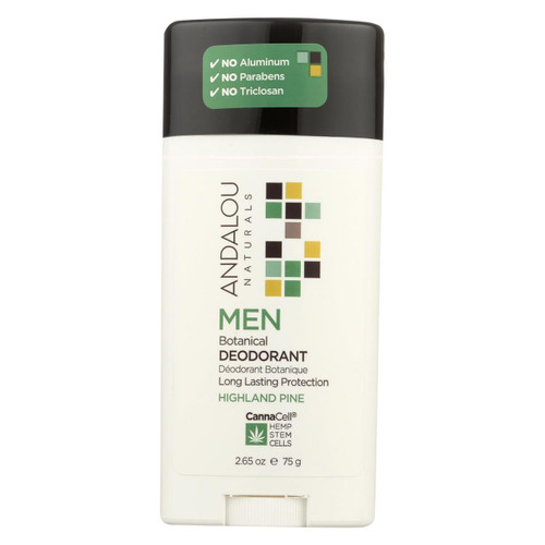 Andalou Naturals - Deodorant - Men's Botanical - 2.65 Oz.