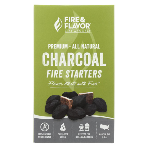 Fire And Flavor Firestarter - Charcoal - Case Of 6 - 24 Count