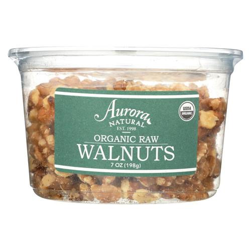 Aurora Natural Products - Organic Raw Walnuts - Case Of 12 - 7 Oz.