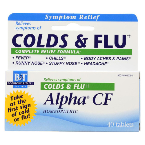 Boericke And Tafel - Alpha Cf - 40 Tablets