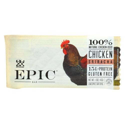 Epic - Bar - Chicken - Sriracha - Case Of 12 - 1.5 Oz