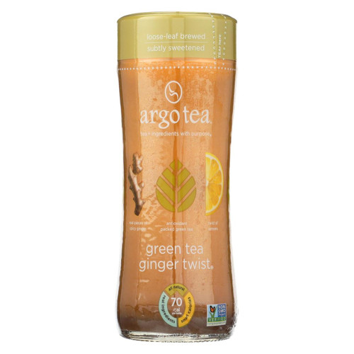 Argo Tea Iced Green Tea - Ginger Twist - Case Of 12 - 13.5 Fl Oz.