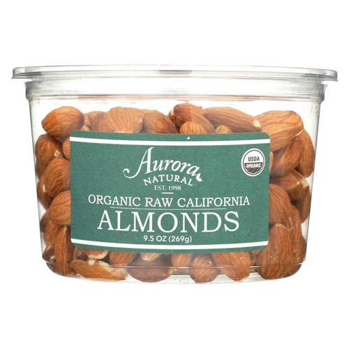 Aurora Natural Products - Organic Raw California Almonds - Case Of 12 - 9.5 Oz.