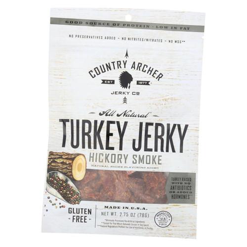 Country Archer Turkey Jerky - Hickory Smoke - Case Of 12 - 2.75 Oz